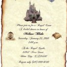 Cinderella FairyTale Ancient Castle Wedding Invitation