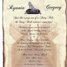 Glass Slipper Wedding Invitations Scroll A