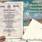 Treasure Map salior pirate Wedding Scroll Invitations