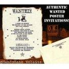 Wedding Invtations Cowboy Western Texas Scrolls party