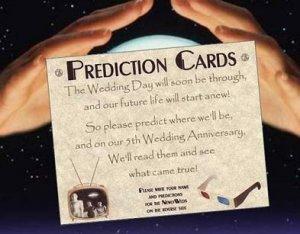 Hollywood Movie Wedding Favor Prediction Cards qty 50