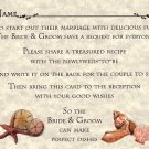 Tropical Beach Shell Wedding Favors Recipe Cards qty 50