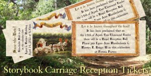 Wedding Favors Reception Tickets Invitations Storybook qty 50 style b