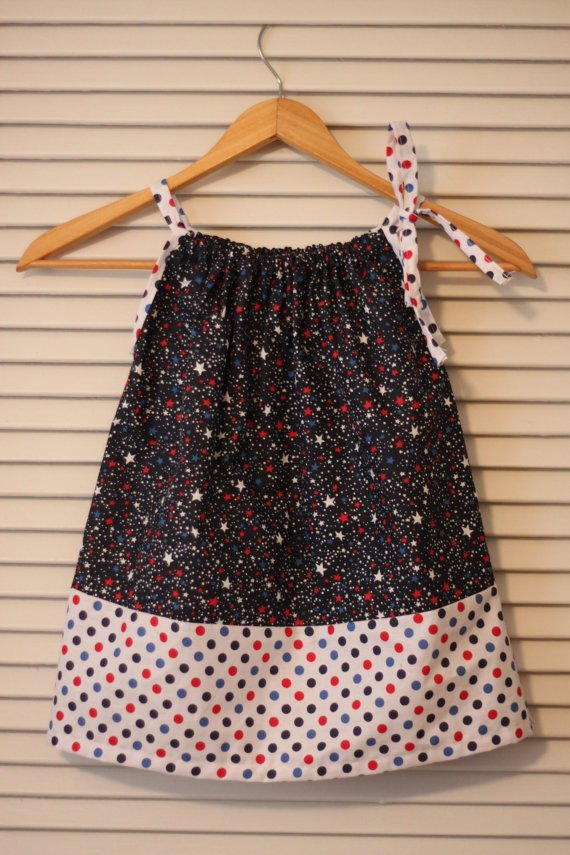 Stars and Strips Pillowcase Dress - Sizes 6 Months - 4T