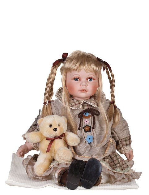 "24"" Collectible Porcelain Baby Girl Doll_Kate_D24-7051"