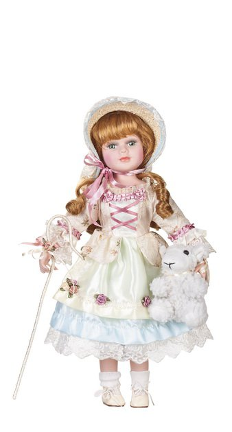 "16"" Collectible Porcelain Baby Doll_Little Bo Peep_D16-2051"