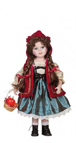 "16"" Little Red Riding Hood Collectible Porcelain Baby Doll_D16-2050"