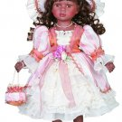"16"" Black Collectible Porcelain Baby Doll _Jetta_D16-2041"