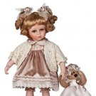 "14"" Collectible Porcelain Baby Doll With Toy Bear _ Esther_D14-2044"