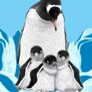 Penguins Super Plush Mink Style Queen Size Soft And Warm Blanket_Q962