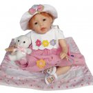 "22"" Inch Silicone Lifelike, Vivid, Collectible Baby Girl Doll, Abby, DV22-9016"