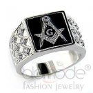 Men's Ring With Top Grade Crystal,Brass,Rhodium, Fashion Jewelry