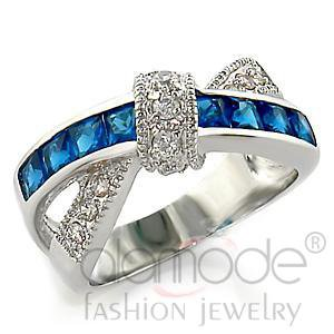 Fashion Jewelry Ladies Ring With Synthetic,Brass,Rhodium