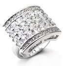 Sterling Silver 925 Fashion Jewelry Ring With Clear Cubic Zirconia Stone