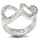 Sterling Silver 925 Fashion Jewelry Ring With Clear Cubic Zirconia Stone, High Polish