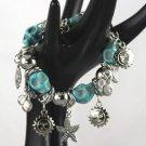 Designer Turquoise Skulls Fashion Jewelry Braclets, Elastic Band