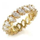 Sparkling Gold Plated Clear Marquise CZ Wedding Band, Size 5, 9