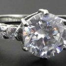 2.5 Ct Stainless Steel Clear Round CZ Engagement, Wedding Ring , Size 5,6,7,8,9