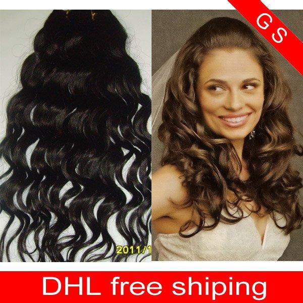 14 Virgin Brazilian Human Remy Hair Extensions Curly 12oz 3pks dark Brown