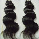 Virgin Brazilian Human Remy Hair Weaving body Wave 14Inch 8OZ 2pks dark Brown