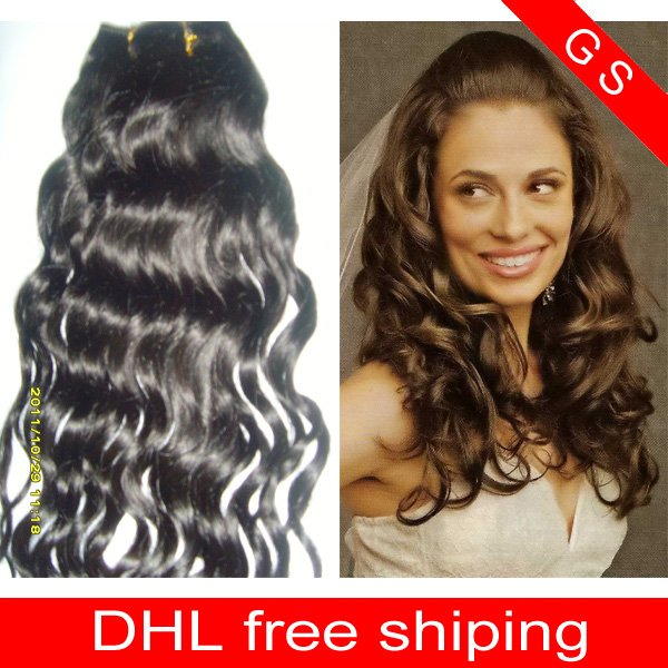22 Virgin Brazilian Human Remy Hair Weaving Curly 8oz 2pks dark Brown