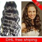 28 Virgin Brazilian Human Remy Hair Weaving Curly 8oz 2pks dark Brown