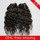 Virgin Brazilian Human Remy Hair Weave Curly 16Inch 8OZ 2pks off Black