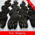 Virgin Brazilian Human Remy hair Weave body Wave 28Inch 8oz 2pks off Black,