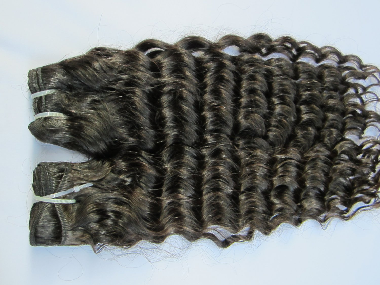 12 Virgin Brazilian Human Remy Hair Weaving Curly 12Inch 2pks dark Brown