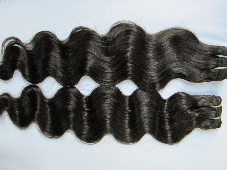 Virgin Brazilian Human Remy Hair Weaving body Wave 12Inch 8OZ 2pks dark Brown
