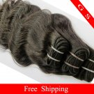 Virgin Brazilian Human Remy hair Weave body Wave 14Inch 8oz 2pks off Black,