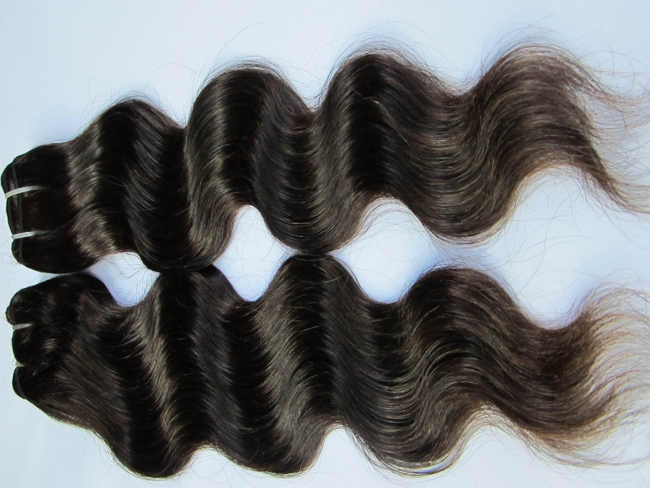Virgin Brazilian Human Hair Extensions body Wave 12Inch 12OZ 3pks dark Brown