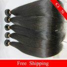24 Virgin Brazilian Human Remy Hair Weave silk Straight 8oz 2pks off Black
