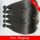 20 Virgin Brazilian Human Remy Hair Weave silk Straight 8oz 2pks off Black