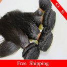 18 Virgin Brazilian Human Remy Hair Weave silk Straight 8oz 2pks off Black