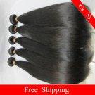Virgin Brazilian Human Remy Hair Weft silk Straight 20Inch 12oz 3pks off Black