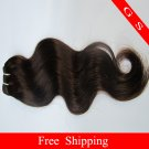 Indian Remy Hair Weft Virgin Human Hair Extensions body Wave 12Inch 8oz 2pks black and brown