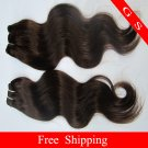 Virgin Indian Hair Weft Remy Human hair Extensions body Wave 16inch 3pks,12oz black and brown