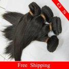 14 Virgin Brazilian Remy Human Hair Weave silk Straight 16oz 4pks off Black