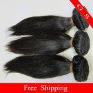 16 Virgin Brazilian Remy Human Hair Weave silk Straight 16oz 4pks off Black