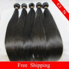 "Brazilian Virgin Remy Human Hair Extensions Weft Weaving Straight 16""+18""+20"" 3pks 12oz off Black"
