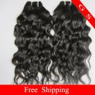 "Retail Top Quality Brazilian Human Hair Weave Remy Hair Extensions water Wave 26""  8oz"