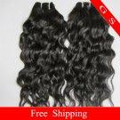 "Top Quality Brazilian Human Hair Weave water Wave 12"" 12oz Retail"