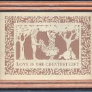 "Framed Picture ""Love is the Greatest Gift"" Figi Graphics papercut scherenschnit"