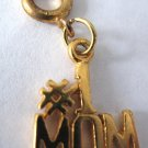 Gold Tone #1 Mom Mother Charm for Traditional Style Bracelet or Pendant Clip on