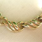 "Vintage CORO Gold Tone ""Swirl"" Necklace 16""  Leaves Choker Adjustable"