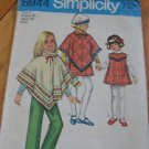 Vintage Simplicity 8944 PONCHO JUMPER PANTS Sewing Pattern Child Girls Sz. 6 25""