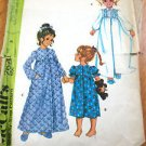 McCall's Sewing Pattern #2624 Girl's Nightgown and Robe Size Girl's 6  chest 25""