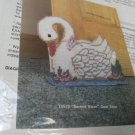 Plastic Canvas Needlepoint Kit Serene Swan Doorstop Plastic Canvas Distlelfink