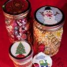 Christmas Gift Jar Lids